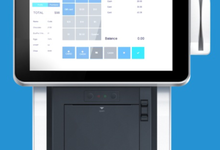 專業工業設計公司,上海浪尖設計桌面式POS收銀機,工作更高效